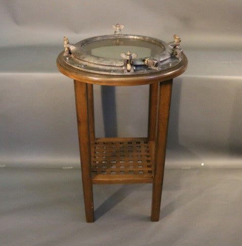 Heavy and Sturdy Bistro Ship's Porthole Table