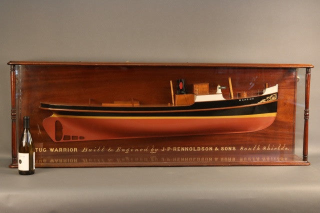 "Builder's Model of the Tugboat ""Warrior"""