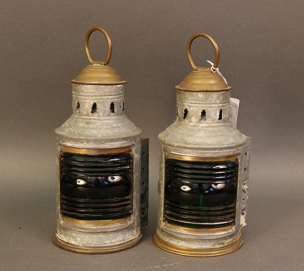 Wilcox Crittendon Port & Starboard Lanterns, Authentic