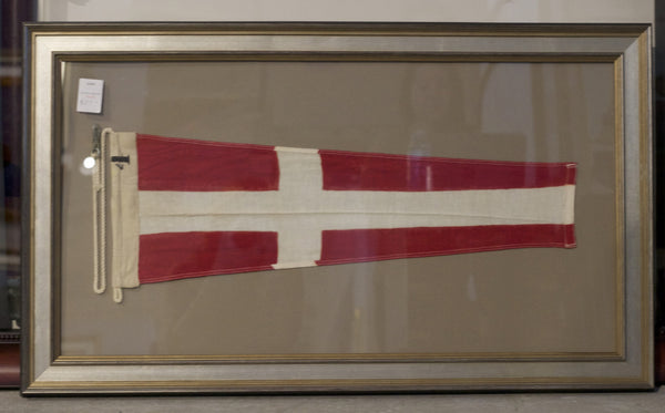 "Red & White  Linen Yacht ""4"" Signal Flag"