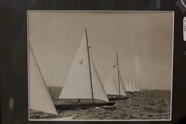 Original Press Photo of A Class Yachts in Race, c. 1935