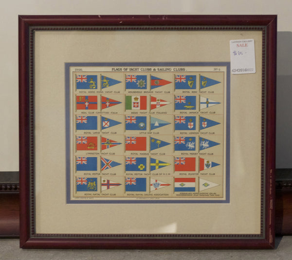 Framed Authentic Page from Yacht Register, 1938