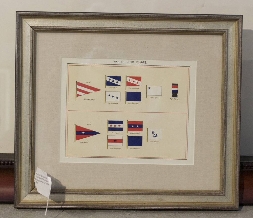 Framed Print Showing Yacht Club Flags