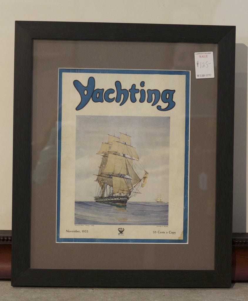 Authentic Cover from Yacthing Magazine, Nov. 1933