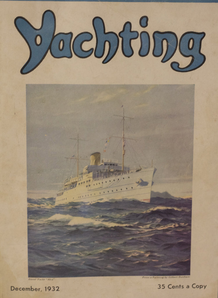 Authentic Cover from Yacthing Magazine, Dec. 1932