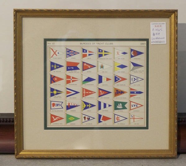 Framed Authentic Page of 1965 Lloyd's Register of Yacht Clubs