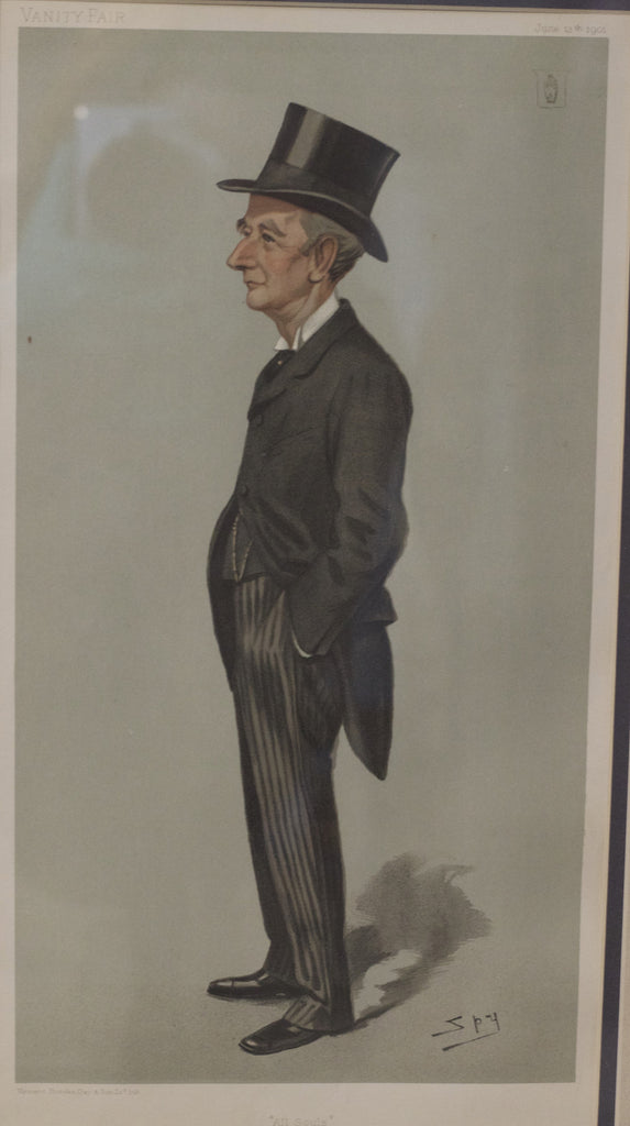 "Original Vanity Fair Print ""All Souls"", c. 1901"