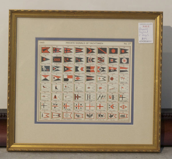 Framed Original Page from Lloyd's Register, c. 1965, No. 321 to 384