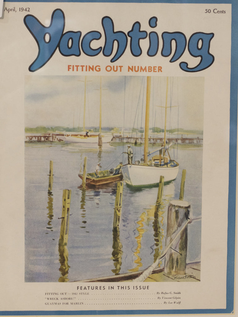 Original Framed Cover from Yachting, April 1942