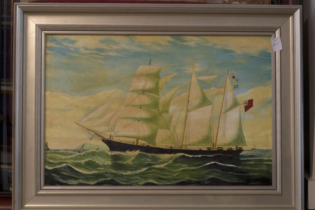 Oil Canvas of Clipper Ship