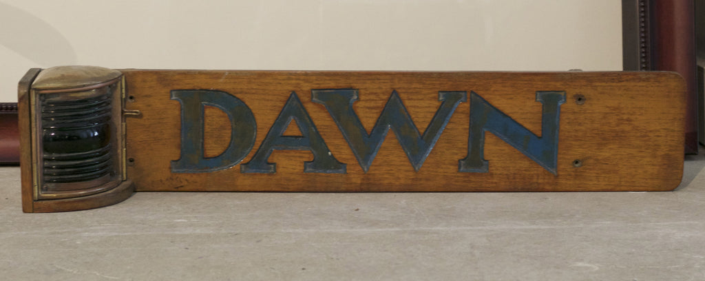 Nameboard from Yacht Dawn
