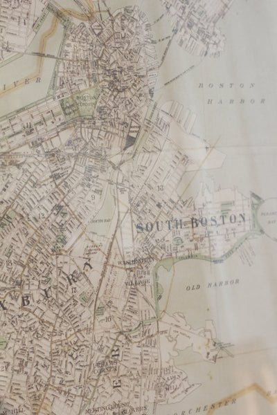 Copy of Walker Map Titled Boston & Surroundings.