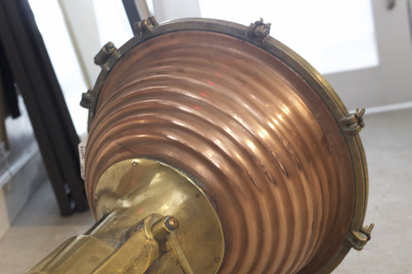 Rippled Copper Cargo Light