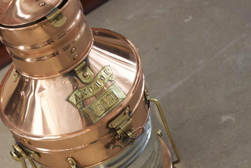 Copper & Brass Ship's Anchor Lantern by Meteorite