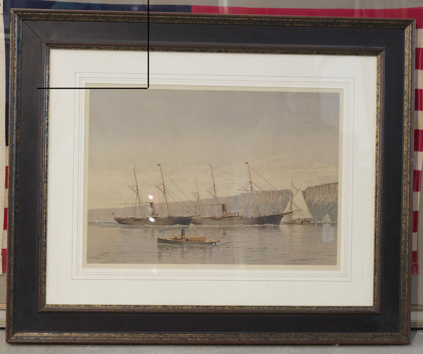 Framed Print by Cozzens of Steam Yachts