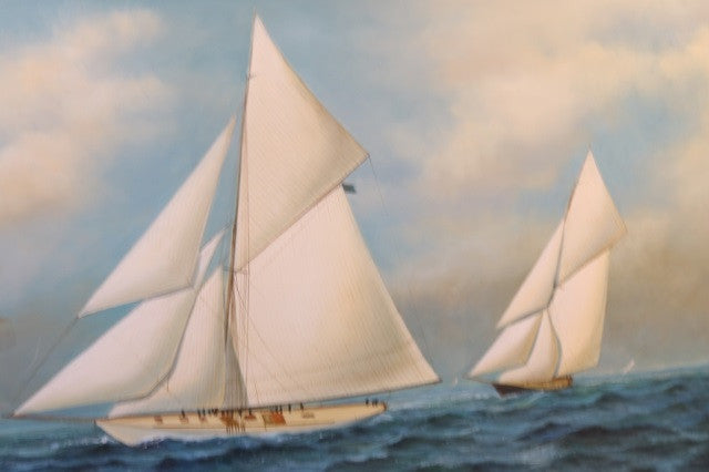 Yacht Race Painting with Vigilant