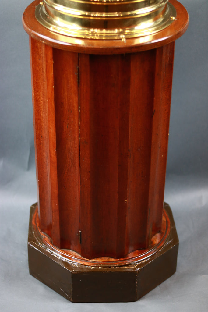 Negus | Brass Ship's Binnacle on Mahogany Stand
