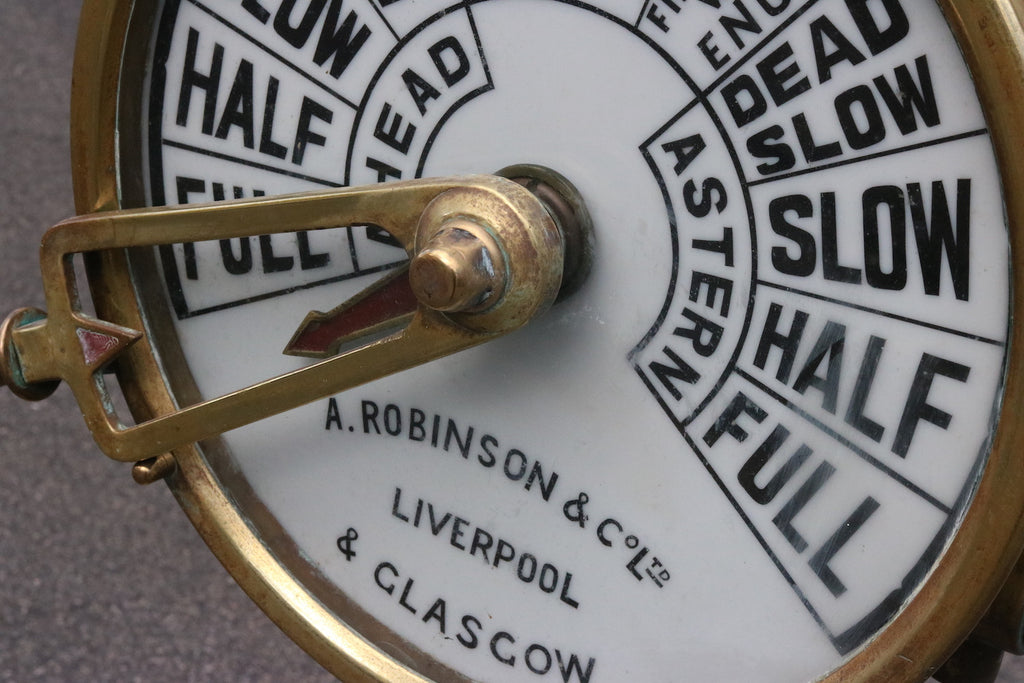 Massive Brass Engine Room Telegraph by Robinson