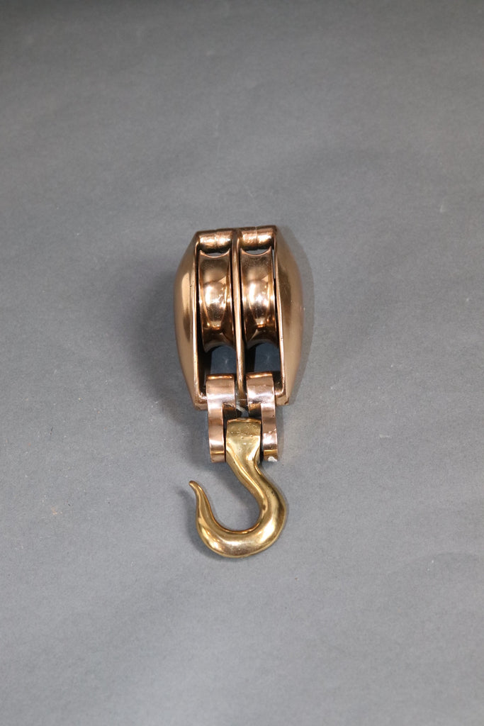 Brass Double Sheave Herreshoff Yacht Pulley