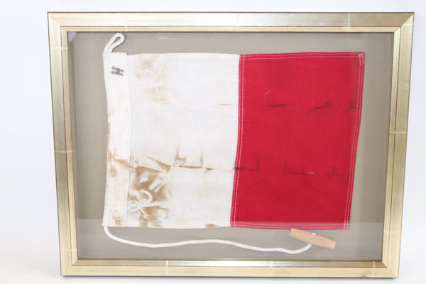 Framed Maritime Signal Flag of Letter H