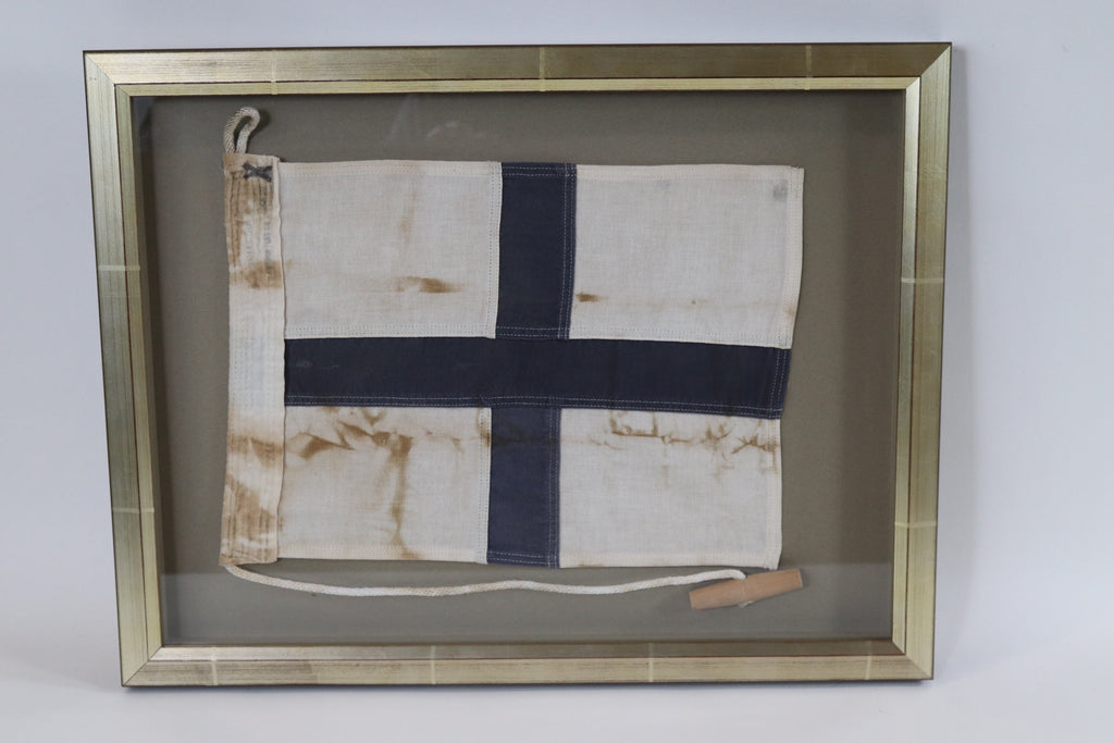 Framed Maritime Signal Flag of Letter X