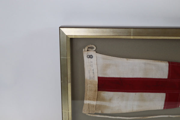 Framed Maritime Flag of Number 8