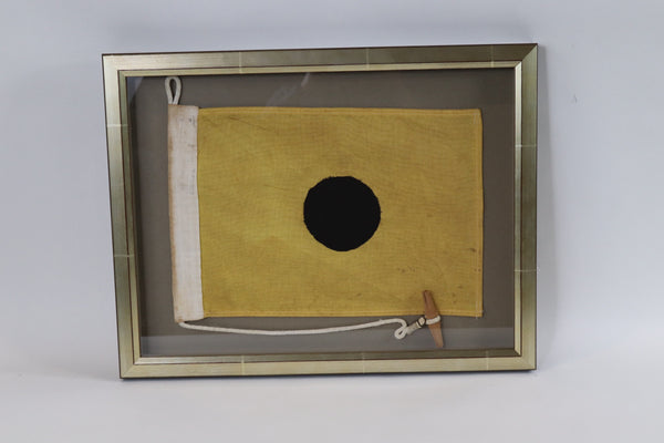Framed Maritime Signal Flag of Letter I