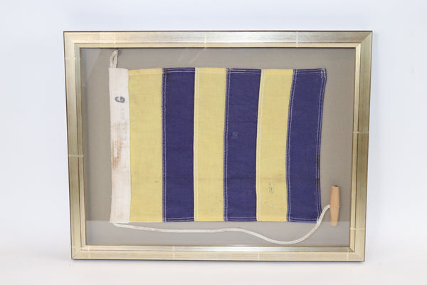 Framed Maritime Signal Flag of Letter G