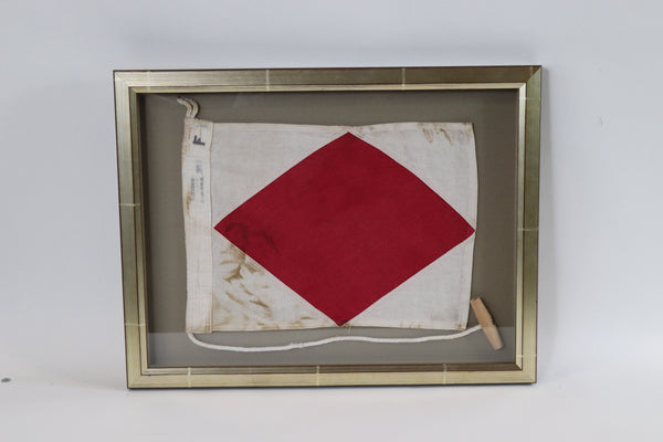 Framed Maritime Signal Flag of Letter F