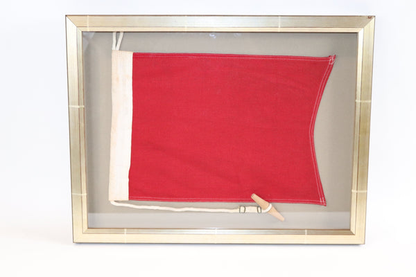 Framed Maritime Signal Flag of Letter B