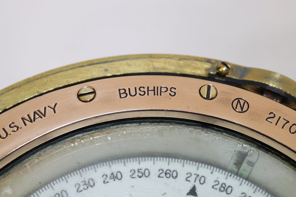Brass U.S. Navy Binnacle Compass