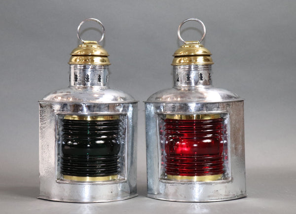 Pair of Port and Starboard Boat Lanterns