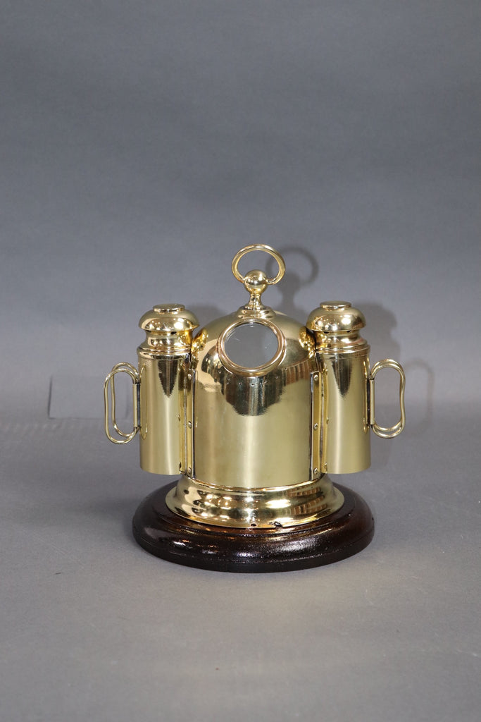 Diminutive Solid Brass Yacht Binnacle