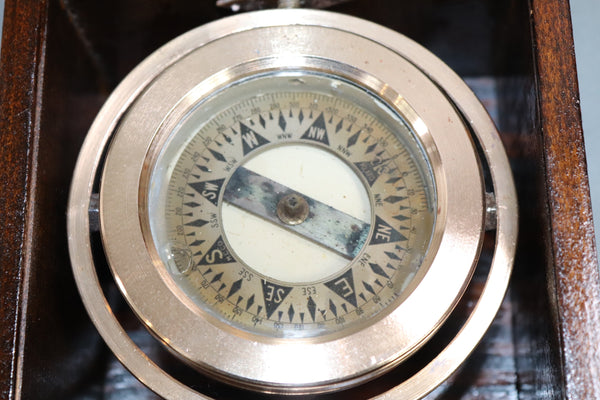 Nautical Compass in Varnished Box