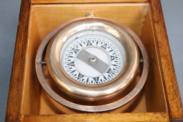 Boxed Boat Compass by Wilcox Crittendon