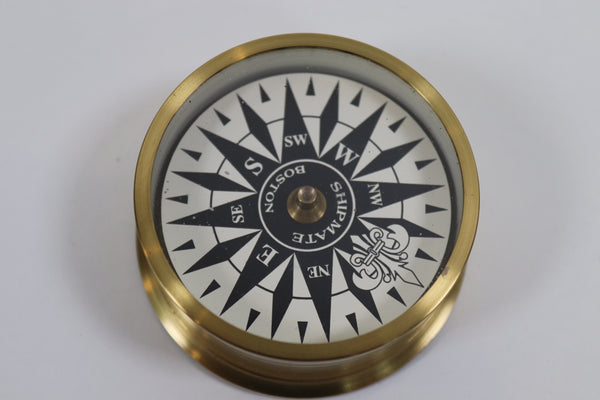 Solid Brass Hand Held Compass