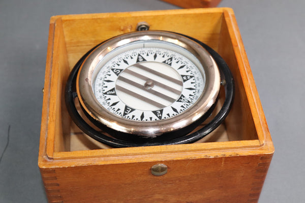 Wilcox Crittenden Ships Compass in Box
