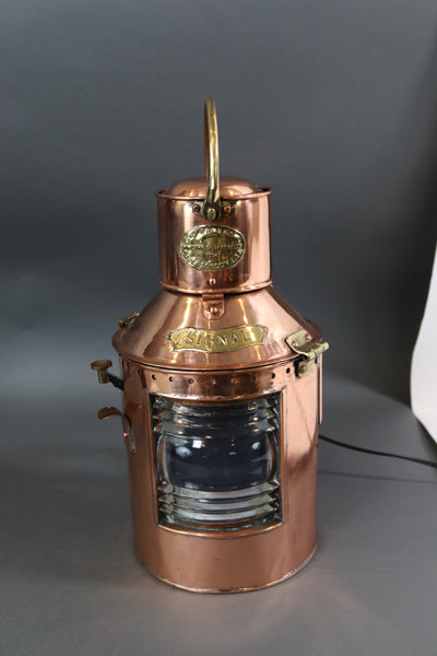 Copper Signal Lantern by Davey of London