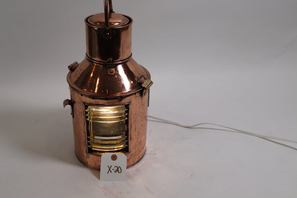 Solid Copper Ships Signal Lantern