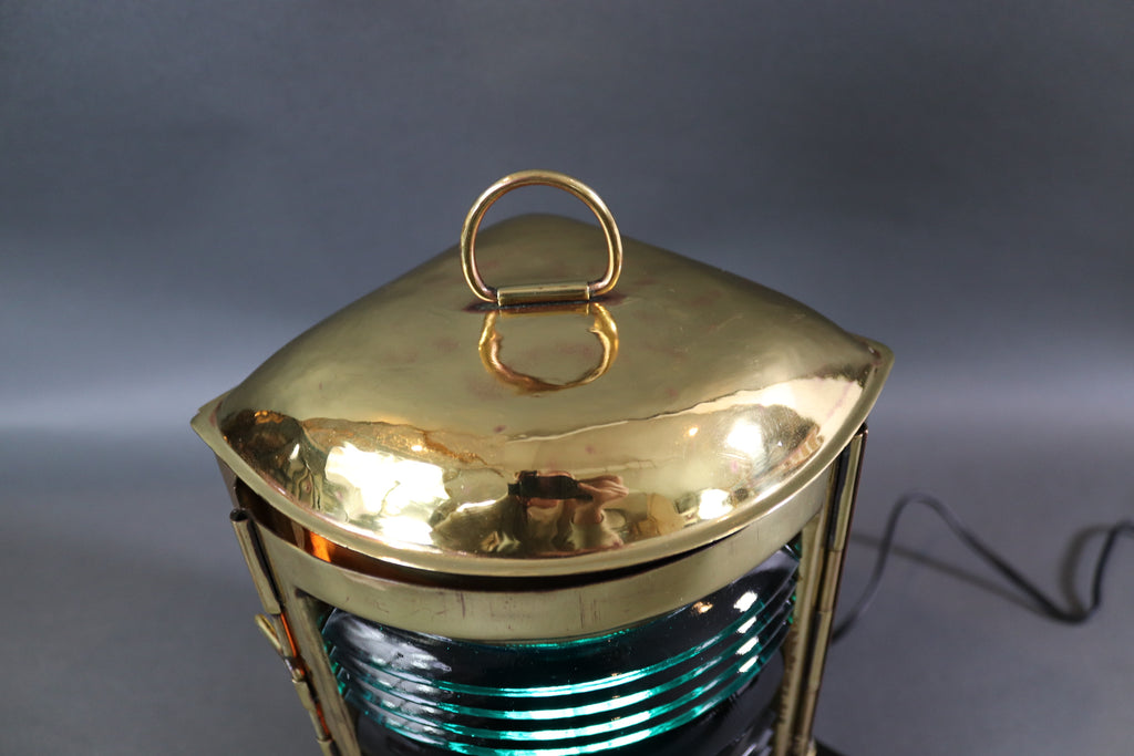 Starboard Boat Lantern of Solid Brass