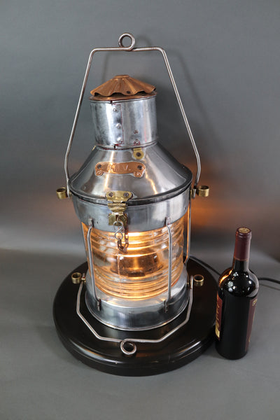 Polished Steel Ships Anchor Lantern