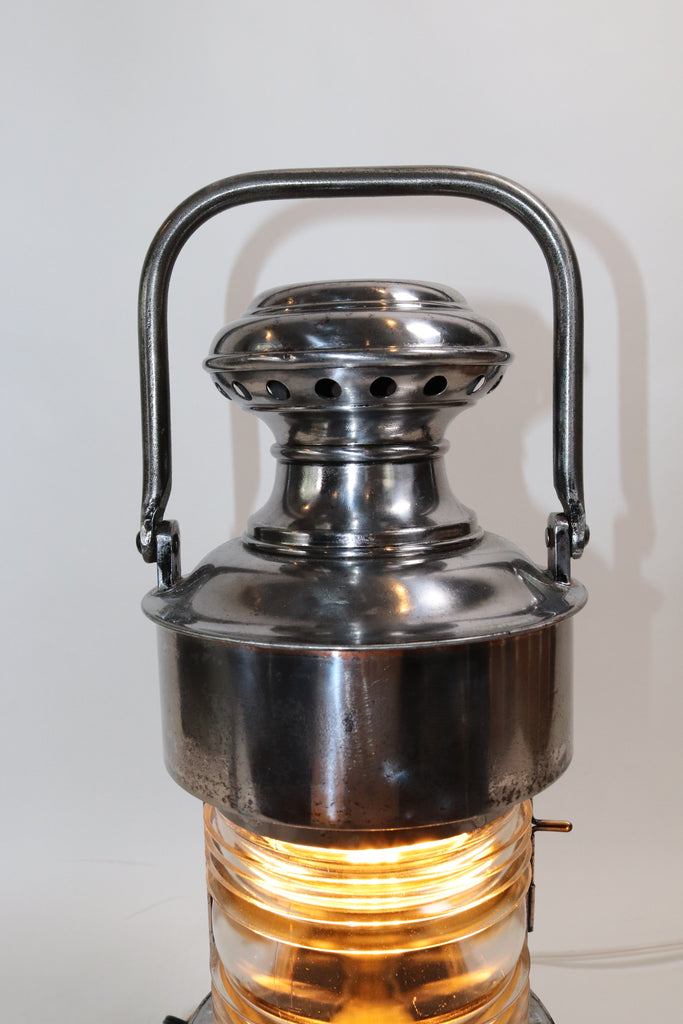 Polished Steel U.S. Navy Ship Lantern