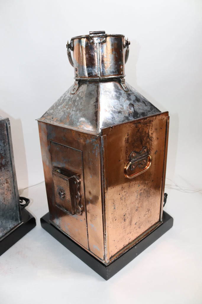 Large Pair of Port and Starboard Ships Lanterns