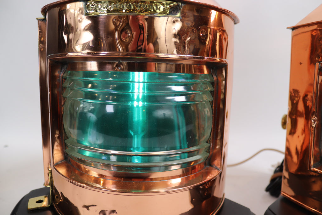 Solid Copper Port and Starboard Ship Lanterns