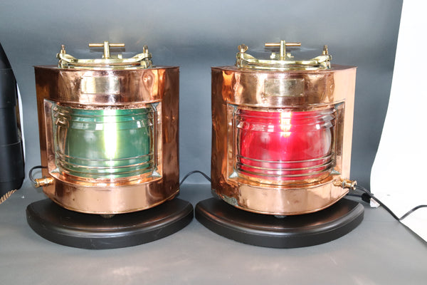 Copper Ships Port and Starboard Lanterns