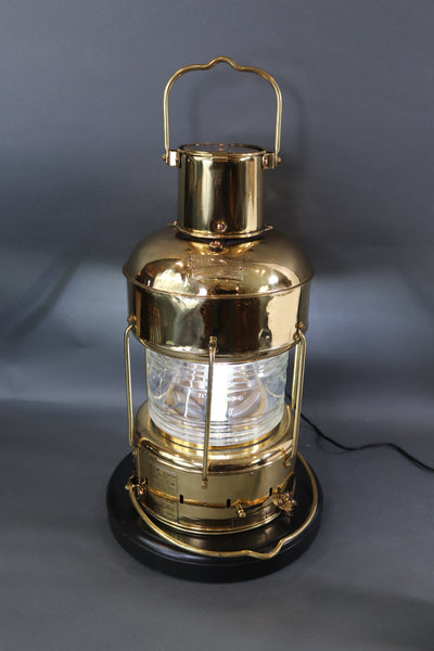 Solid Brass Ships Anchor Lantern