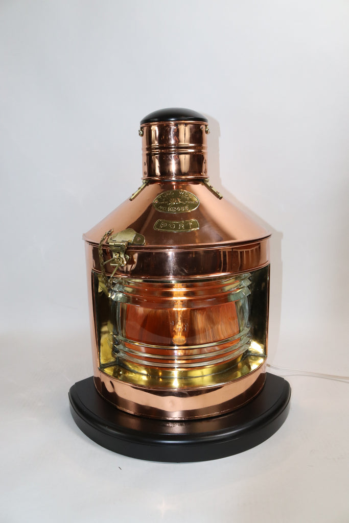 Polished Copper Ships Port Lantern by Tung Woo