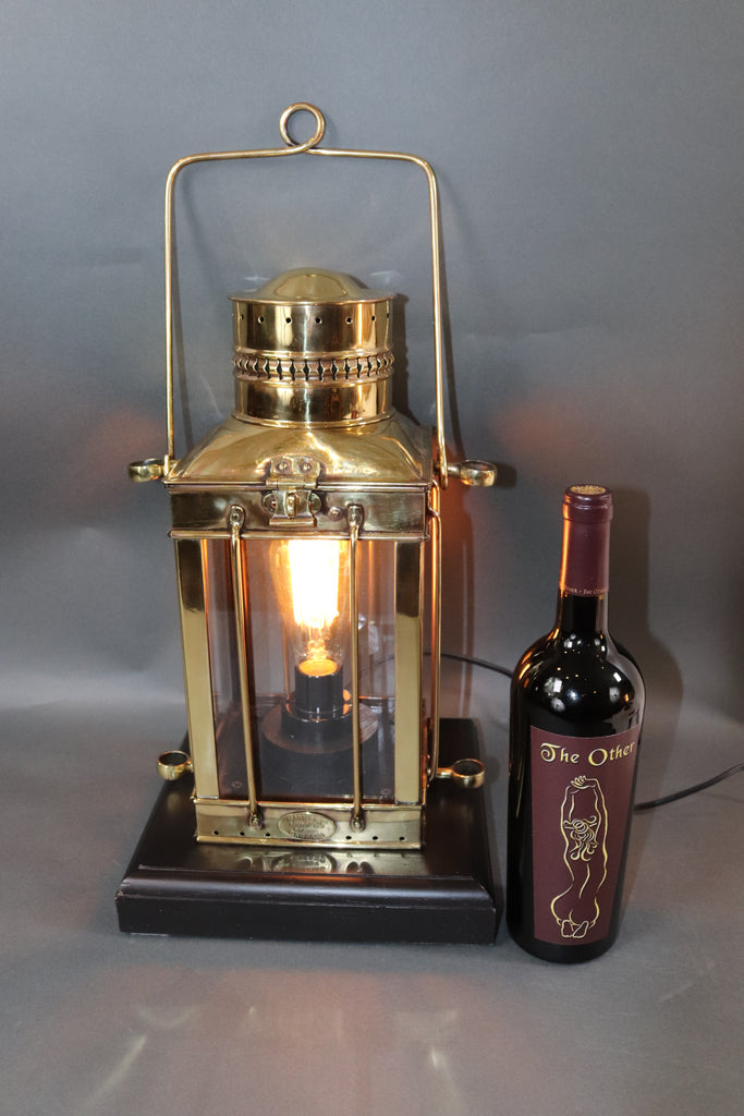 Solid Brass Yacht Lantern by Davey of London