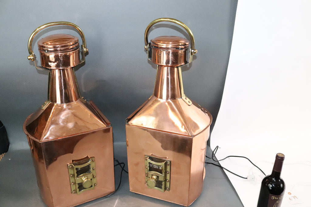 Pair of Port and Starboard Ships Lanterns