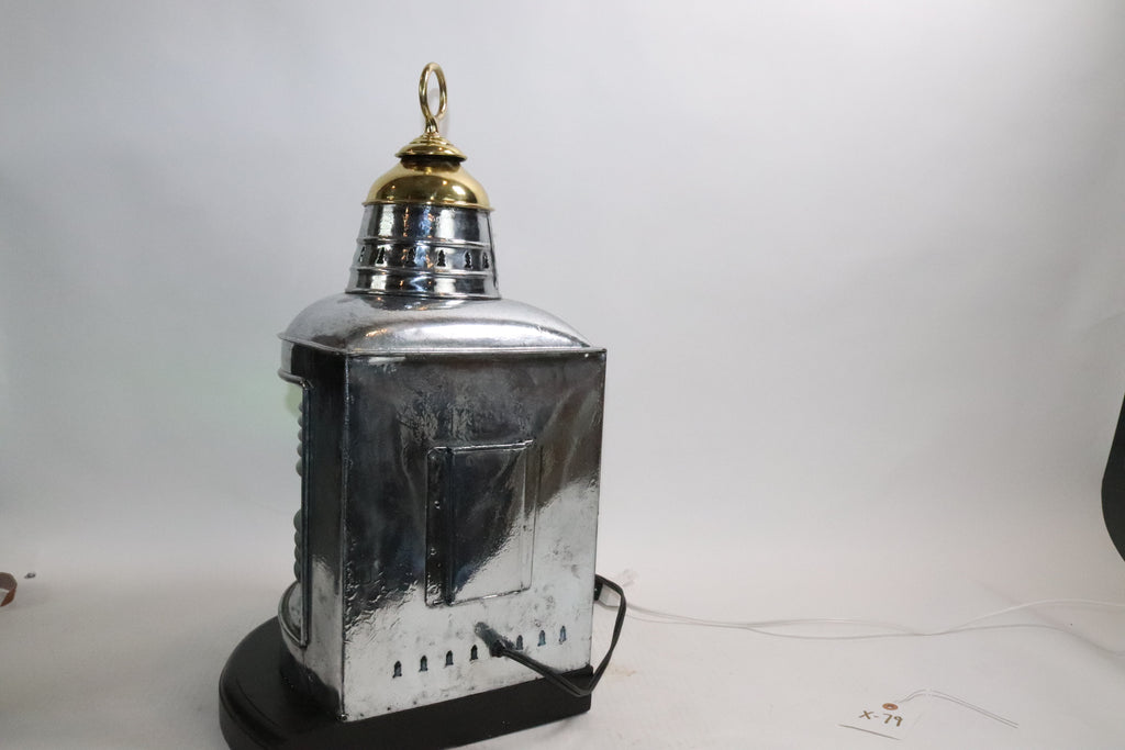 Polished Steel Ships Starboard Lantern